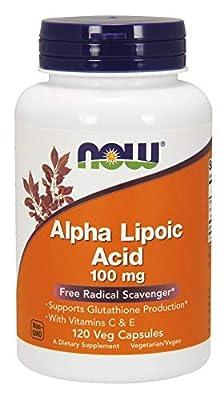Now Foods Alpha Lipoic Acid with Vitamins C & E, 100mg - 120 vcaps, 0.13 kg