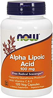 NOW Foods Alpha Lipoic Acid with Vitamins C & E. 100mg - 120 Cápsulas
