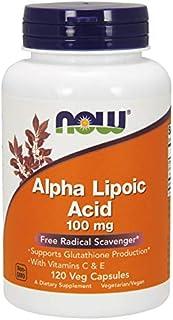 NOW Foods Alpha Lipoic Acid with Vitamins C & E. 100mg - 120 Cápsulas