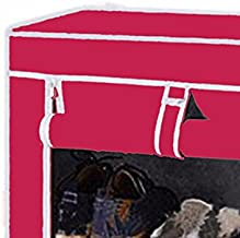 Biaba Collection The Real Cloth Foldable Shoe Rack Organizer, 4 Layers, Pink(Color As Per Availability)