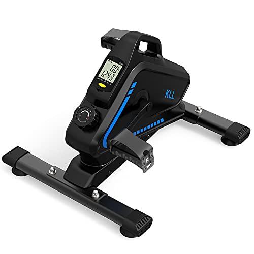 KLL Under Desk Bike Pedal Exerciser, Magnetic Under Desk Elliptical with Digital LCD Monitor for Arm, Leg Exercise, Mini Bike for Home, Office Workout