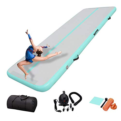 DAIRTRACK IBATMS Air Tumbling Mat,10ft/13ft/16ft/20ft Inflatable Gymnastics Air Mat for Gymnastics Training/Home Use/Cheerleading/Yoga/Water