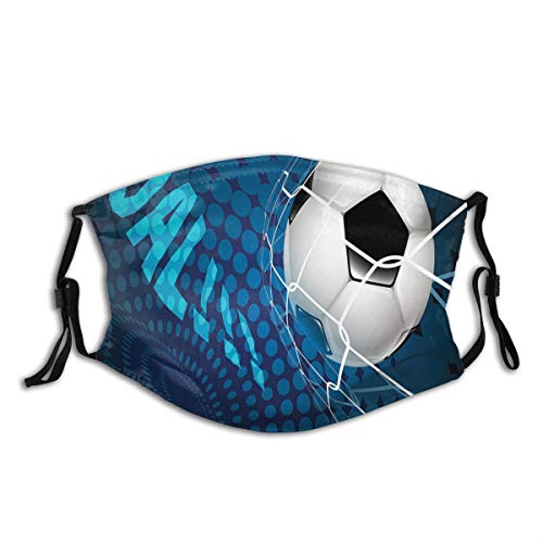 MEIDUOSI Ziel Fußball fliegt ins Netz Abstrakte Punkte Muster Hintergrund Europäischer Sport Schwarze Staubschutz, Wiederverwendbare und waschbare zum Laufen, Radfahren, Skifahren, Outdoor-Aktivitäten