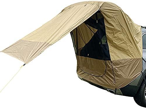 Dengbang Carpa del Coche, Carpa Impermeable de la Puerta Trasera del SUV del Coche del Protector Solar, Refugio Que acampa de la Parrilla,-Brown