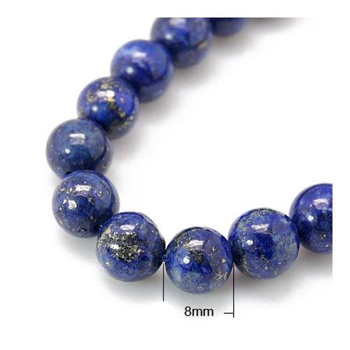 Charming Beads Filo 24+ Blu Lapislazzuli 8mm Tinti Tondo Perline HA02335
