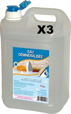 3 jerrycan à 5 l ontmineraliseerd water – jerrycan – ideaal voor strijkijzer.