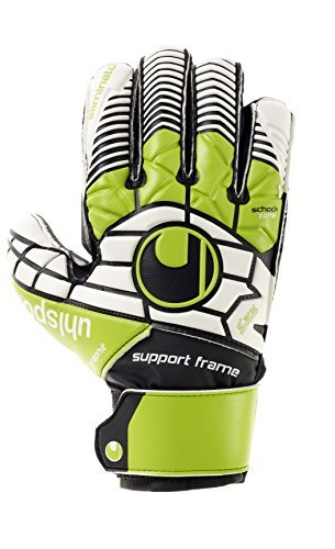 UHLSPORT ELIMINATOR SOFT GRAPHIT SUPPORTFRAME JR. Goalkeeper Gloves Size 6 by uhlsport