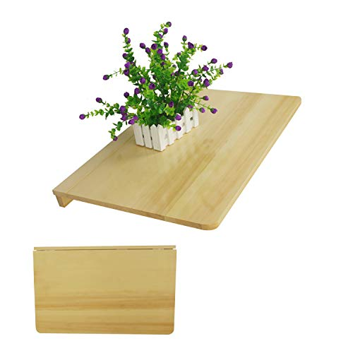 LiRen-Shop JinQi Mesa de Pared con Hoja de Gota, Simple y Plegable, 60 x 40, Color Natural
