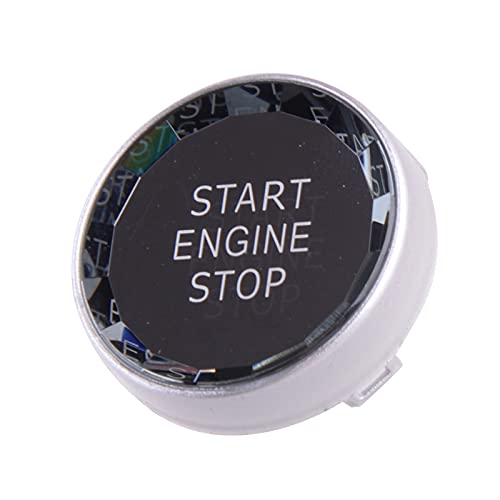 XIAOLAN Plata Crystal Motor Start Start Button Tapa Cubierta DE CUCHO Ajuste para BMW E Chasis E84 E83 E87 E90 E91 E92 E93 E70 E71 E72 E89