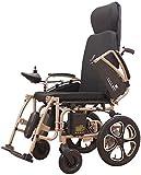 Puede estar planos Silla de ruedas eléctrica inteligente automático portátil plegable silla de ruedas Scooter motorizado Potente silla de ruedas de doble motor para ancianos y discapacitados