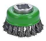 Bosch Professional 2608620729 Spazzola a Tazza Intrecciato Clean per Inox, X-Lock, Ø 75 mm, Inossidabile, Spessore Filo 0.5 mm, per Ø125 mm, Colore:, Size