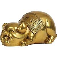 風水 置物 豚の真鍮風水豚の像のために中国の旧暦富の中国の黄道帯の彫刻ホームデコレーションを誘致 金運アップグッズ 風水