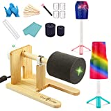 LFSUM Cup Turner for Crafts Tumbler Cup Spinner Machine Kit, Wood Cuptisserie Turner DIY Glitter Epoxy Tumblers 2 Foams (Rosewood, Yellow)