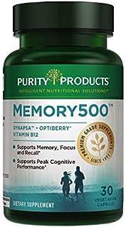 Sponsored Ad - Memory500 Bacopa monniera/Brahmi Elite Nootropic Complex - Supports Peak Cognitive Performance*, Increased ...