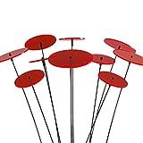 SUNPLAY 'Sonnenfänger-Scheiben in ROT, 10 Stück im Set, 5 Stück à 7 cm und 5 Stück à 10 cm Durchmesser + 35 cm Schwingstäbe