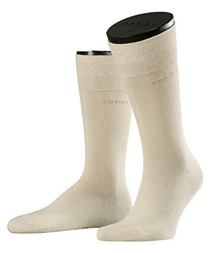 ESPRIT Herren Socken Basic Uni - 80prozent Baumwolle, 2 Paar, Elfenbein (Cream 4011), 39-42