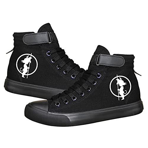 MAZF Chaussures de Toile Dragon Ball High Gang Chaussures de Toile pour Enfants et Adolescents Unisexes Baskets Chaussures de Cosplay Chaussures de Toile baskets-36