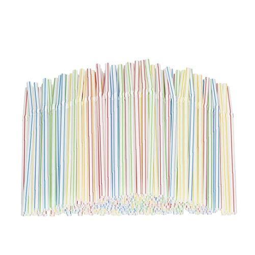 Buttare via Bere Strumenti cannucce di plastica flessibile pieghevole Cannucce 100Pcs domestici