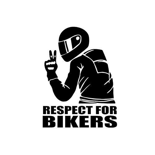 globalqi Auto Aufkleber 15 11 cm, Respet Für Biker Aufkleber Auf Auto Vinyl Lustige 3D Aufkleber Und Abziehbilder Motorrad Auto Stil Dekoration