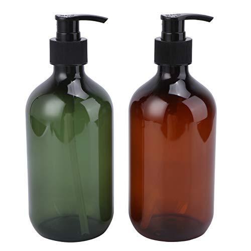 TOPBATHY 2 Stück 500 ml Lotion Vuota Pumpe Seife Flasche Dispenser Hand Lotion Seife Flaschen Vuote Gel Duschgel Shampoo Flüssigseife