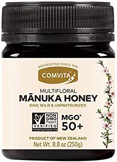 Comvita MGO 50+ Raw Multifloral Manuka Honey I New Zealand's #1 Manuka Brand I Authentic | Non-GMO Superfood for Everyday ...