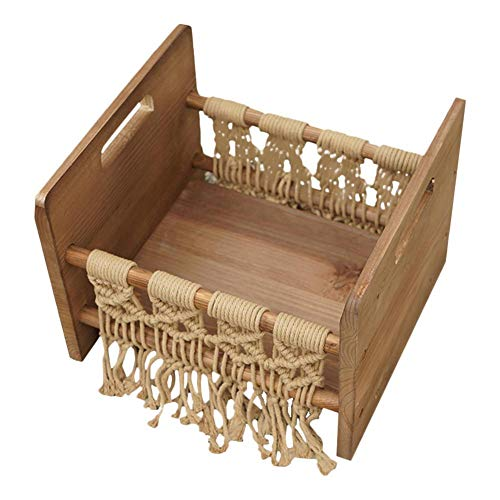 WXGY Nouveau-né Photo Studio Accessoires de lit bébé Lit en Bois Accessoires de Photographie de bébé pour séance Photo posant Un canapé