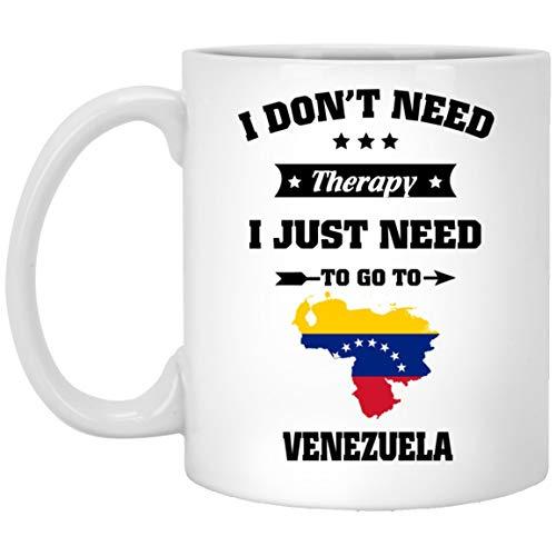 N\A Regalo de cumpleaños Venezuela Taza de café - Solo Necesito IR a Venezuela - Regalos de cumpleaños para el Mejor Amigo - Taza de té de cumpleaños Cerámica Blanca