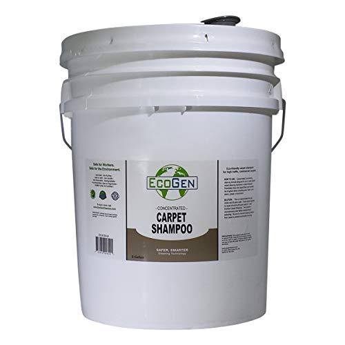 EcoGen ECOCSH-B Professional Strength Carpet Shampoo, Concentrated, 5 Gallon Bucket