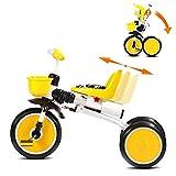 Saturey Bicicleta Trike para niños, triciclos Plegables para niños Asiento...