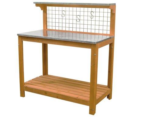 Siena Garden 577730 plantation Table avec Gitterwand et crochet, 102 x 78 x 15 cm