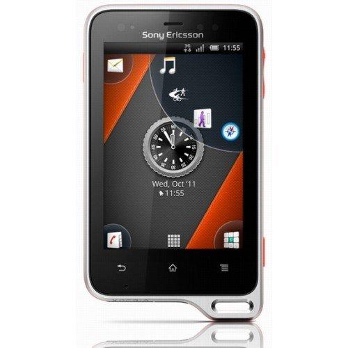 Sony Ericsson Xperia active Smartphone (7,6 cm (3 Zoll) Touchscreen Bildschirm, 5 Megapixel Kamera, GMS, UMTS, GPRS, microSD, WiFi, Android 2.3 OS) schwarz/orange