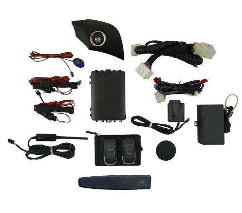 EasyGO AM-MBU-106V Smart Key Remote Start and Alarm System with Atlantis Blue Metallic Driver's Door Handle for Chevrolet Malibu