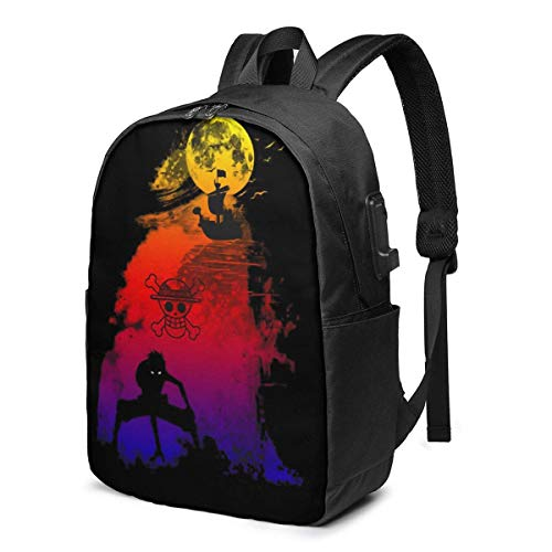 17-Inch Backpack with USB Port One Piece Backpack for Any Travel