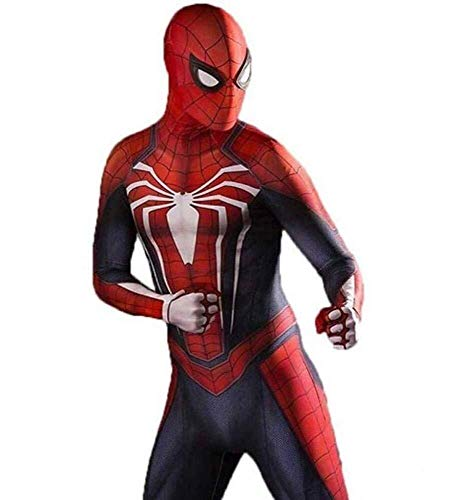 Hcxbb-b Spiderman Disfraces de Halloween Cosplay Traje-PS4 Medias del Estiramiento (Color : Red, Size : X-Large)