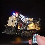 Juego de iluminación LED LED para Lego LIEBHERR R 9800 Excavator 42100 Building Block Modelo - Versión de Control Remoto (Modelo Lego no Incluido)