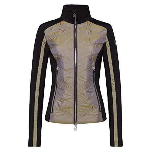 Toni Sailer W Aina Twotone Colorblock-Schwarz, Damen Isolationsjacke, Größe 36 - Farbe Golden Glacier