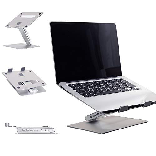Soporte para Portátil De Aluminio Soporte para Portátil Ventilado Soporte Vertical para Portátil Ergonómico Plegable para MacBook Tabletas iPad Portátil