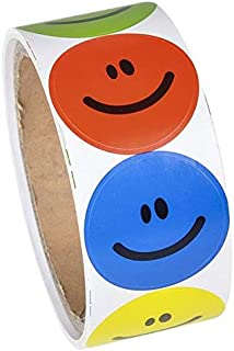 Rhode Island Novelty 097138709585, 1 Roll of 100 Smiley Face Stickers, Primary Colors NIP (RN RSSMILE), Brown