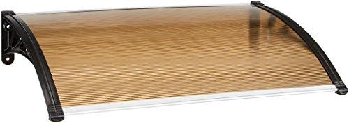Blinky 96899-05 Vordach ABS Bronze, Wabenmuster, 60 x 100 cm, Seitenstreben ABS schwarz