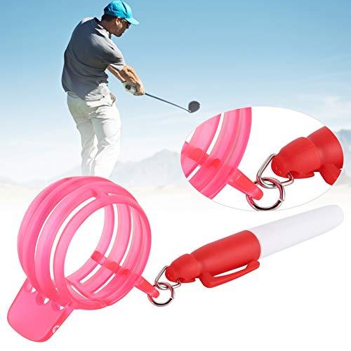 SONK Marcador de línea de Pelota, Marcador de línea de Pelota de Golf Útil para Herramientas de Golf para Uso General para Uso Profesional en Golf(Red, Polar Animals)