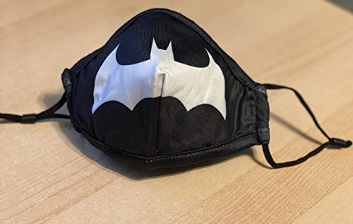 DC Comics Batman Black White Symbol Batmobile Superhero Bruce Wayne Facemask Face Mask Protection Adults Womens Mens Unisex Kids Childs Boys - Fast and Free Shipping