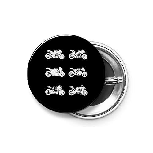 Shopsmeade® MotoGP 2016 Bikes (White) Round Pin Button Badge