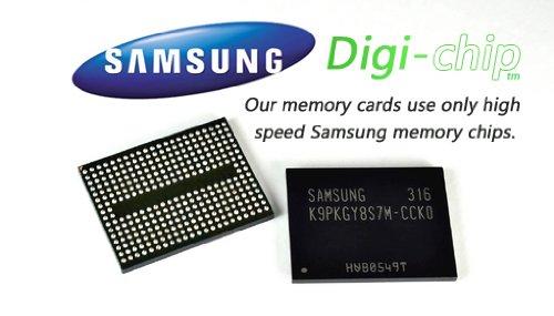 Digi-Chip HIGH SPEED 16GB UHS-1 CLASS 10 MICRO-SD MEMORY CARD FOR Samsung Rex 80 S5222R, S5220R, 60 C3312R, Metro E2202, E2200 cell phone