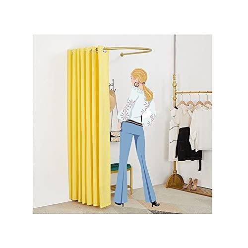 SHIJINHAO Vestuario Portátil, Sala De Montaje En Tienda De Ropa, Vestuario De Protección De Privacidad Móvil Fácil Usado para Centro Comercial, Boutique (Color : Yellow, Size : 100x95x200cm)