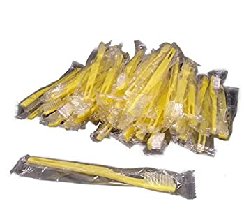 Individually Wrapped Disposable Toothbrushes [Pack of 48] Comfortable Bristle Feel Great for Travel and Guest Rooms