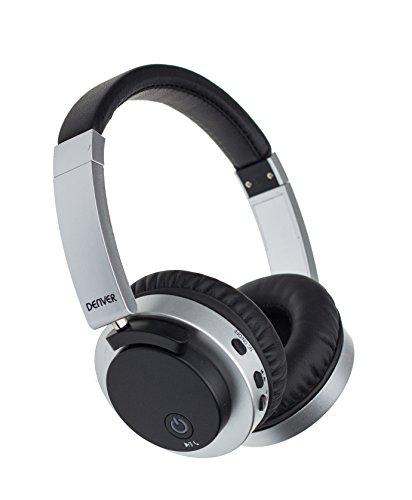Auriculares Bluetooth Inalámbricos Denver BTN-206. Cancelación De Ruido Activo. Batería 250mAh. Rango operación Bluetooth 10m. Negro