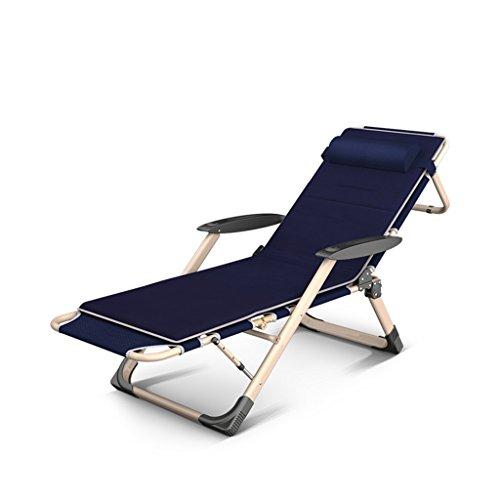 Bains de Soleil Le Fauteuil portatif de Zero-Gravity de Chaise Pliante Peut Ajuster l'angle pour Ajouter des Coussins, soutenant 200kg, Tant à l'extérieur qu'à l'intérieur
