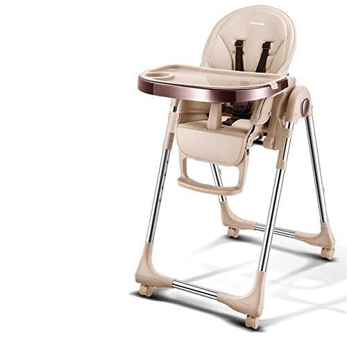Silla alta del asiento de bebé Silla alta portátil con mesa de alimentación de bandejas Tabla de placa de alimentación Non-deslizamiento Seguridad y confort Altura ajustable Altura plegable de altura