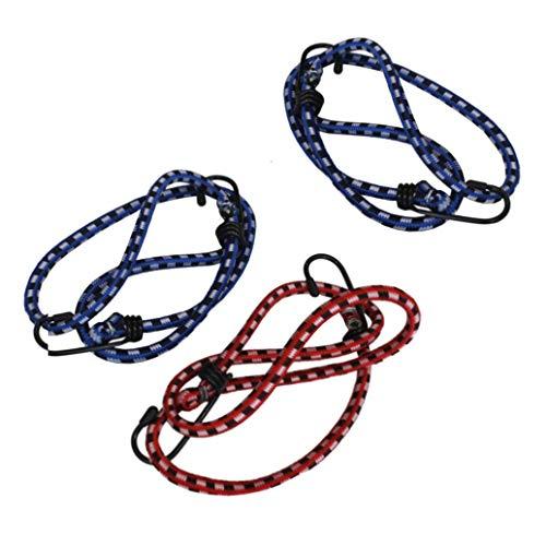 3 Stück 45cm / 60cm / 80cm Spanngummi mit Metallhaken, Spanngurt, Gepäckbänder, Gummiband, Rundgummi, Expander Set