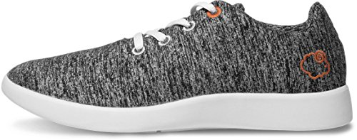 LeMouton Men's Wool Shoes Comfortable Lightweight Walking Running Casual Lace Up Sneakers [ Dark Grey/US Men's 9]